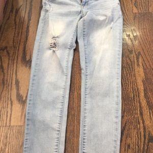 Skinny blue washed jeans